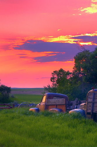 Sunset on the Old Truck