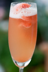 Bellini Sorbet with Prosecco