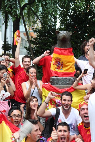 Spanish celebration in Hachiko