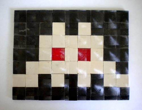 My Invader Tile Piece circa Feb. 2001