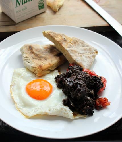 Soda Farl, Morcilla & Eggs Brunch