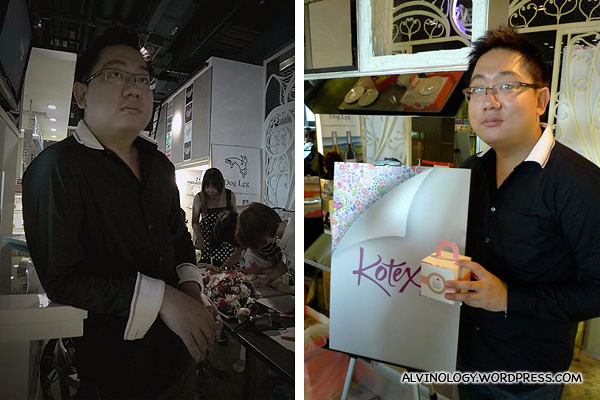 Kotex's new male ambassador (photo courtesy of Janet and Han Joo)