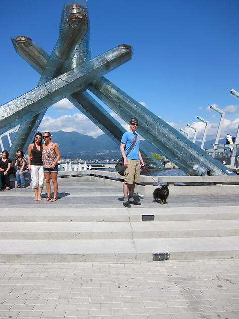 Taylor & Kichou at the Olympic Cauldron/Fountain