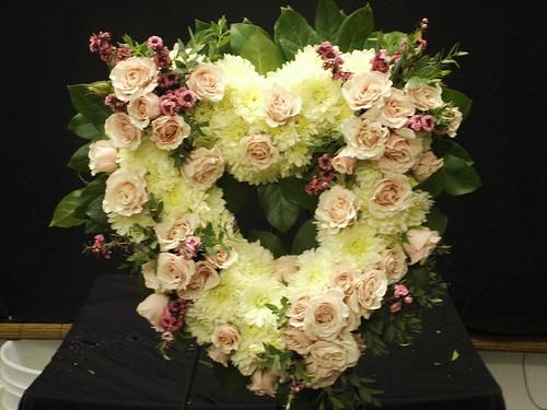 Heart Sympathy Flowers