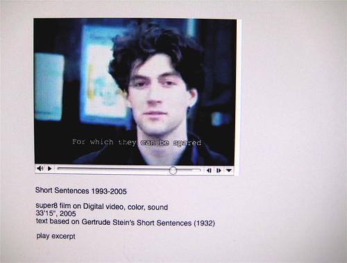 "Francesco Gagliardi, da: ""Short Sentences 1993-2005"" (http://francescogagliardi.net/ss.html)"