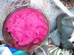 hot pink hummus