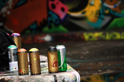 Leake Street Spray Cans