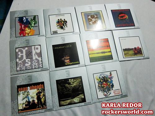 Eraserheads Box Set Photos: The CDs
