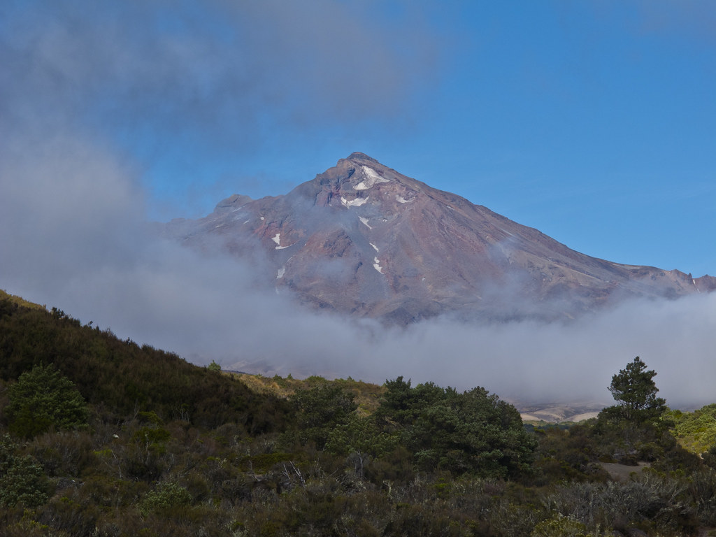 Mount Ruapehu from our campsite