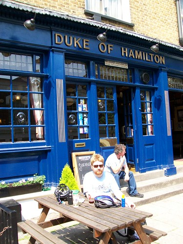 Alan outside the Duke of Hamilton, Hamstead