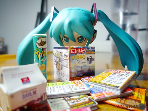Miku was reading some Indonesian IT magz
