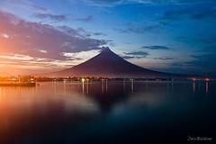 Mayon Volcano at Dusk