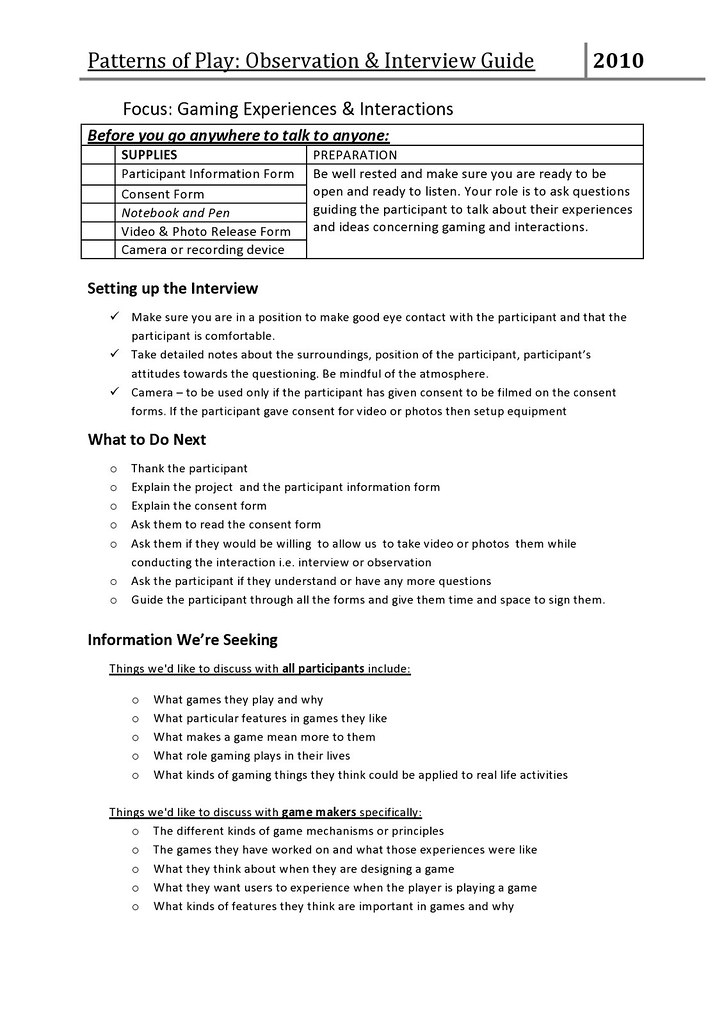 Interview Guide Pg 1