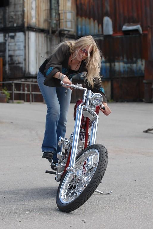 Minna Heikkinen's Panhead Chopper Comes to Sturgis