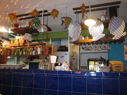 The small kitchen at La Cevicheria.