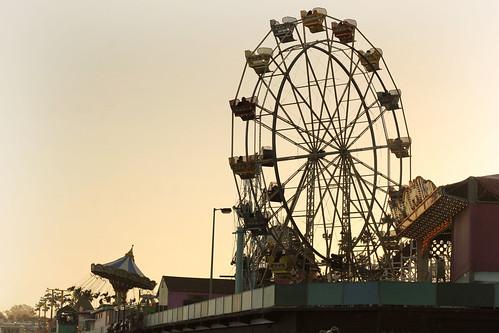 Ferris wheel and swing spinny ride