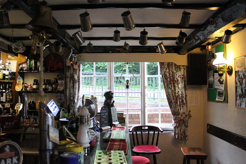 Hanging tankards inside the Red Bull, Kidsgrove