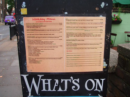 Gallery Cafe Menu