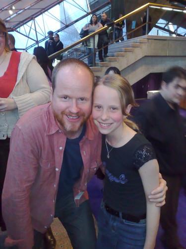 Caitlin with JOSS WHEDON!!!
