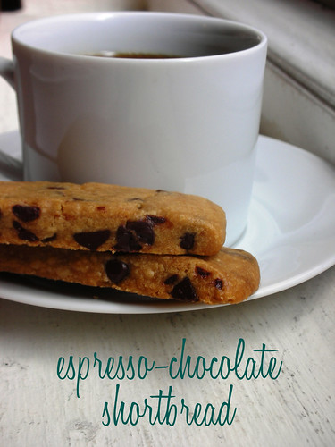 espresso-chocolate shortbread cookies