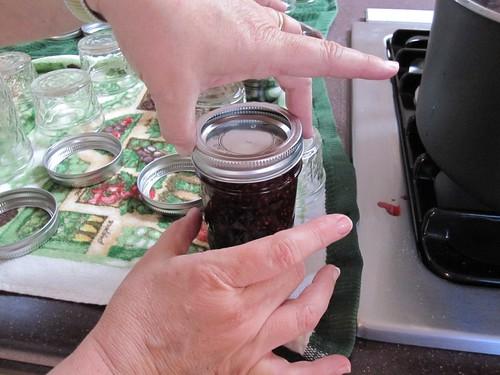 Seal the jam jar
