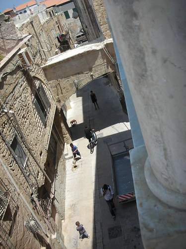 The Street View from Uri Yirmias Boutique Hotel in Akko