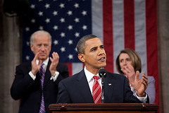 Barack Obama, during the 2010 State Of The Uni...
