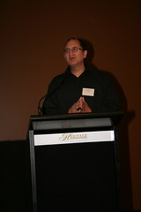 John Lambert giving his presentation.