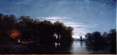 Anastasi, Auguste  - Nocturnal scene in Holland  - c 1851
