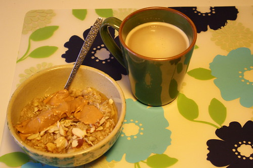 oatmeal, coffee