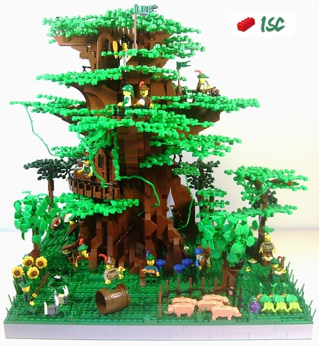 Lego Forestmen Treehouse Kowe'on Sanctuary