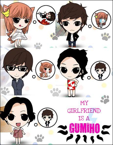 my girlfriend is a gumiho caricaturas