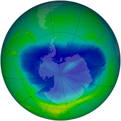 Snapshot of the Antarctic Ozone Hole 2010