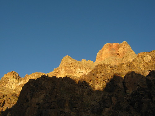 beautiful clear blue skies and gold canyon walls on the 3rd day