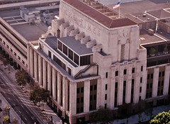 View of LA Times Building from Bradbury Room at LA City Hall