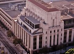 View of LA Times Building from Bradbury Room at LA City Hall