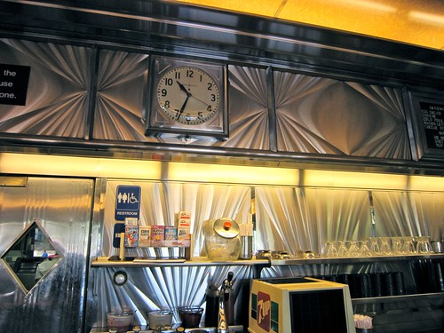 Bowmanstown Diner Stainless Clock