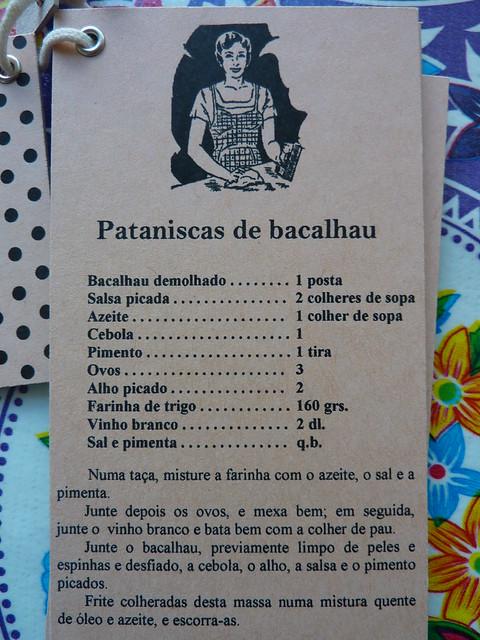 Pataniscas de bacalhau.