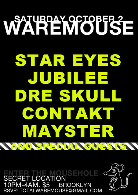 Mayster & Contakt @ Waremouse, October 2nd