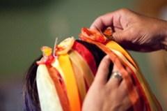 Ribbon veil