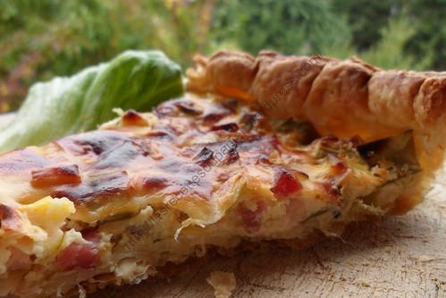 Quiche aux poireaux et aux lardons / Leek and bacon pie