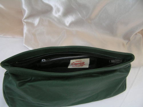 Clutch Green Leather Capricio 2
