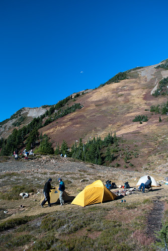 mount cheam.campers, hikers, paragliders