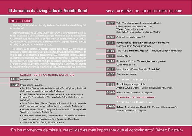 Programa III Jornadas de Living Lab de ámbito rural