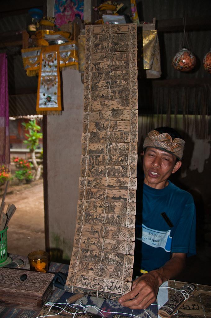 Balinese calligraphy from Teganan village