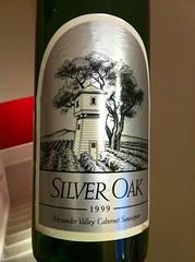 A nice 1999 Silver Oak Cabernet Sauvignon from...