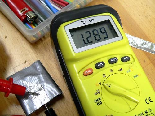1V cell measuring 1.2 Volts on a Multimeter