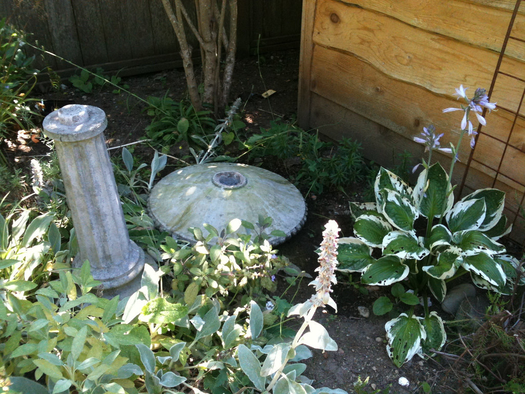 Beheaded birdbath