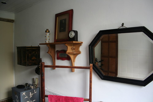 shelves and mirror