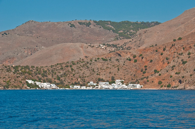 Loutro from the sea